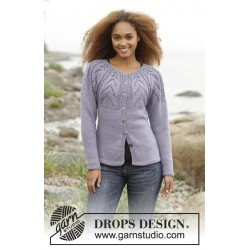 Image of   Magic web cardigan by drops design s-xxxl drops karisma garn