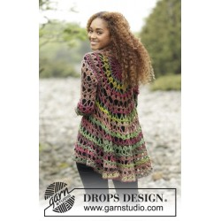 Image of   Fall festival by drops design s-xxxl drops big delight garn cardigan