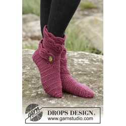 Hot socks by drops design 35-43 drops alaska garn strømper og sutsko