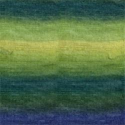 Drops Delight print 16 grøn/blå