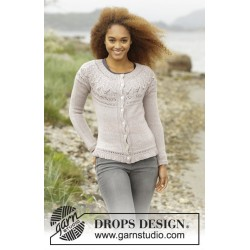 Crystal Bright Cardigan by DROPS Design S-XXXL DROPS BABYALPACA SILK