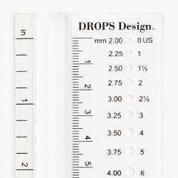 Pindemåler. DROPS strikkepindsmåler, 2mm - 12mm