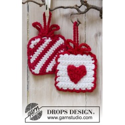 Hanging Gifts by DROPS Design ca 7 x 7 cm DROPS PARIS