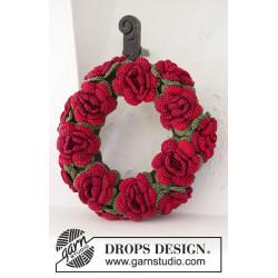 Christmas in Bloom by DROPS Design Diameter: ca 22 cm. DROPS COTTON VISCOSE