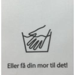 "Label ""håndvask"" 3,5 x 4,4 cm i hvid"