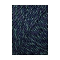 Lang Yarns Jawoll, farve marineblå/grøn, 50g + 5g forstærkningstråd