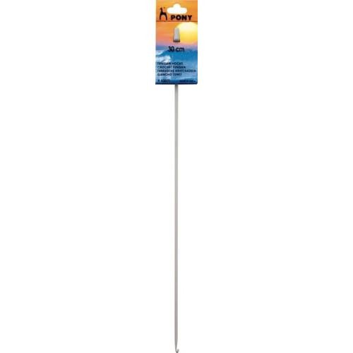 Tunesisk hæklenål/hakkenål, 30cm, 4mm