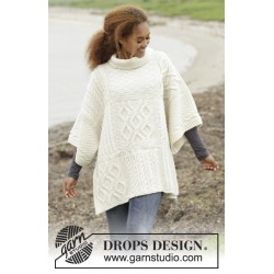 Comfort chronicles by drops design one size drops nepal garn poncho