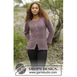 Touch of Heather Cardigan by DROPS Design S-XXXL DROPS KID-SILK