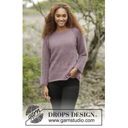 Touch of Heather by DROPS Design S-XXXL DROPS KID-SILK