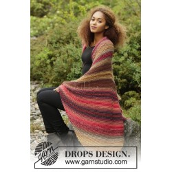Autumn Lights by DROPS Design Bredde: 90 cm. Længde: 140 cm. DROPS BIG DELIGHT