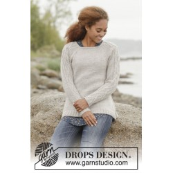 Image of   Irish plaits by drops design s-xxxl drops merino extra fine garn bluse