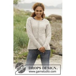 Image of   Irish plaits cardigan by drops design s-xxxl drops karisma garn