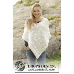Snow Beads by DROPS Design S-XXXL DROPS ALPACA/DROPS BRUSHED ALPACA SILK