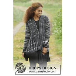 Image of   Midnight roads by drops design s-xxxl drops fabel garn strikkekits