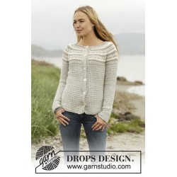 Image of   Misty mountain cardigan by drops design s-xxxl drops puna garn