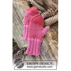Warmhearted mittens by drops design 12 mdr-6 år drops merino extra