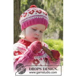Warmhearted hat by drops design 12 mdr-6 år drops merino extra fine