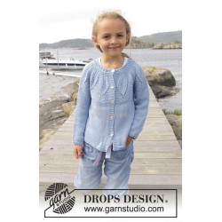 Sweet Bay Jacket by DROPS Design 3 år-14 år DROPS BELLE