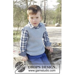 Vest is Best! by DROPS Design 2-12 år DROPS COTTON MERINO