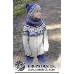 Little Adventure Jacket by DROPS Design 3 år-12 år DROPS MERINO EXTRA FINE