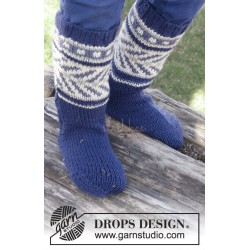 Little Adventure Socks by DROPS Design 22-37 DROPS MERINO EXTRA FINE