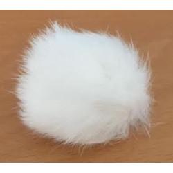 Pompon kanin hvid 40 - 60 mm