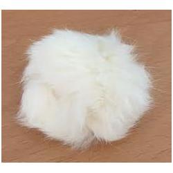 Pompon kanin lys natur 40 - 60 mm