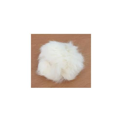 Pompon kanin kvast lys natur 40 - 60 mm