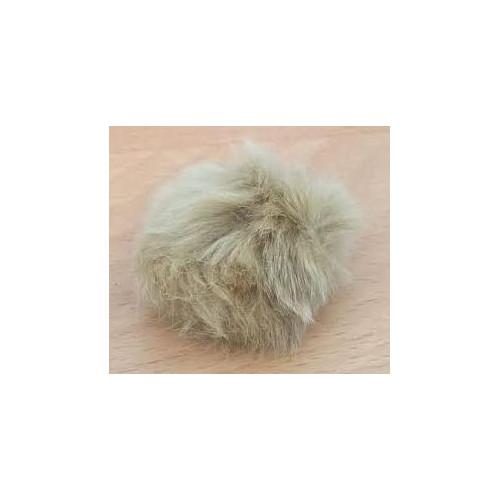 Pompon kanin kvast beige 60 mm