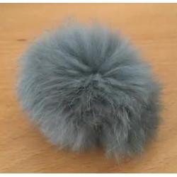 Pompon kanin grå 40 - 60 mm