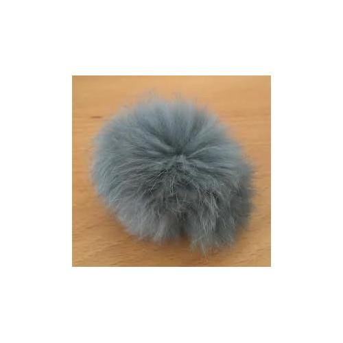 Pompon kanin kvast grå 40 - 60 mm