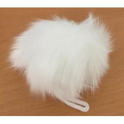 Pompon kanin hvid 70 - 90 mm