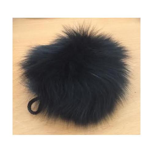 Pompon kanin kvast sort 70 - 90 mm
