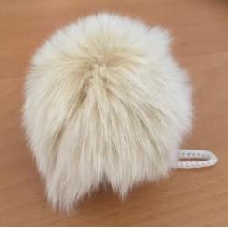 Pompon kanin lys natur 70 - 90 mm