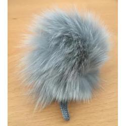 Pompon kanin kvast grå 70 - 90 mm