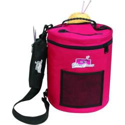 Garntaske. Smart og praktisk taske til garn, rød