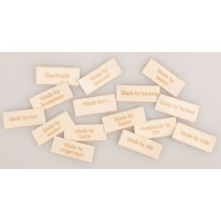 Stof labels beige
