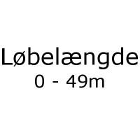 Løbelængde 0 - 49m pr. 50g