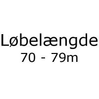 Løbelængde 70 - 79m pr. 50g