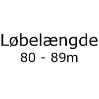 Løbelængde 80 - 89m pr. 50g