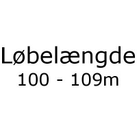 Løbelængde 100 - 109m pr. 50g
