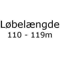 Løbelængde 110 - 119m pr. 50g