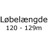 Løbelængde 120 - 129m pr. 50g