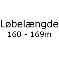 Løbelængde 160 - 169m pr. 50g