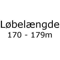 Løbelængde 170 - 179m pr. 50g