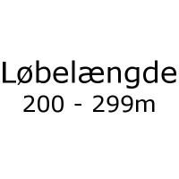 Løbelængde 200 - 299m pr. 50g