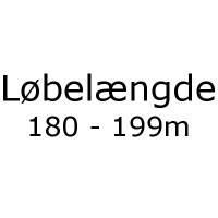 Løbelængde 180 - 199m pr 50g